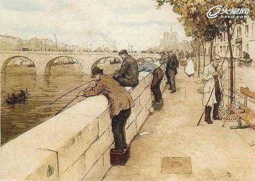 从简洁街景速写手绘看欧式街区规划图片