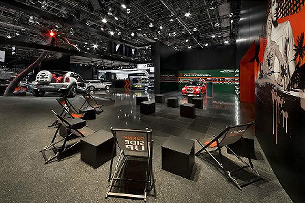 北美底特律国际汽车展mini展厅设计