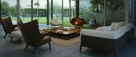 玻璃木材的完美结合 以色列乡村别墅设计