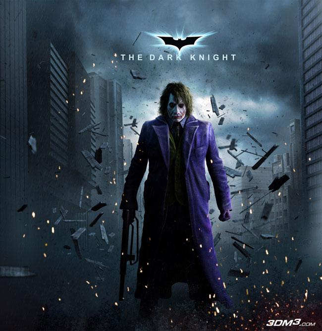 三维动画 蝙蝠侠 黑暗骑士 小丑角色制作