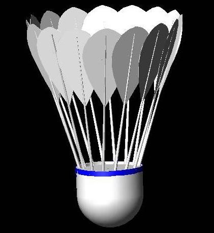 工业创意设计:autocad立体羽毛球制作