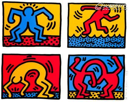 平面设计:凯斯.哈宁1988-90涂鸦作品赏析