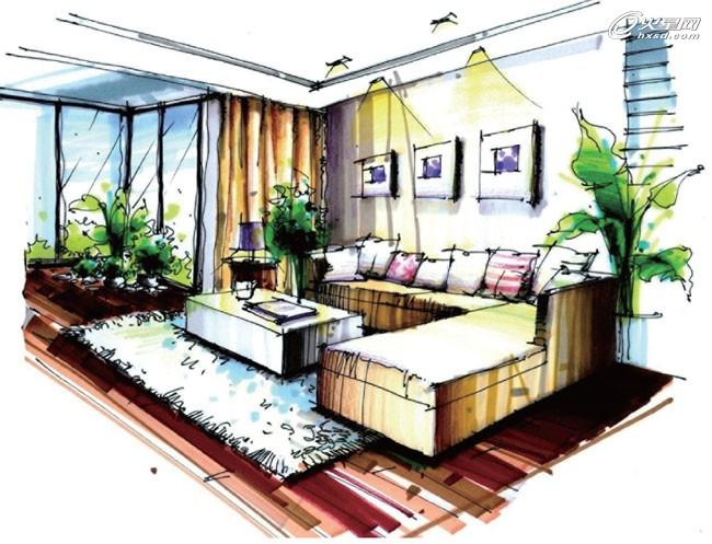 【树风设计】室内设计手绘快速表现流程