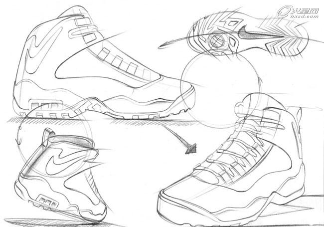 运动鞋手绘教程
