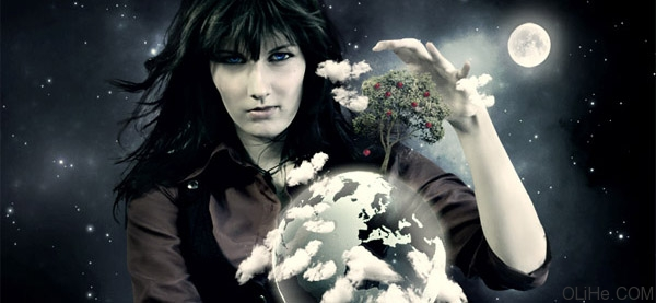 photoshop教程:大树,女人和地球_游戏_火星时代