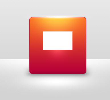 长方形红色小图标素材