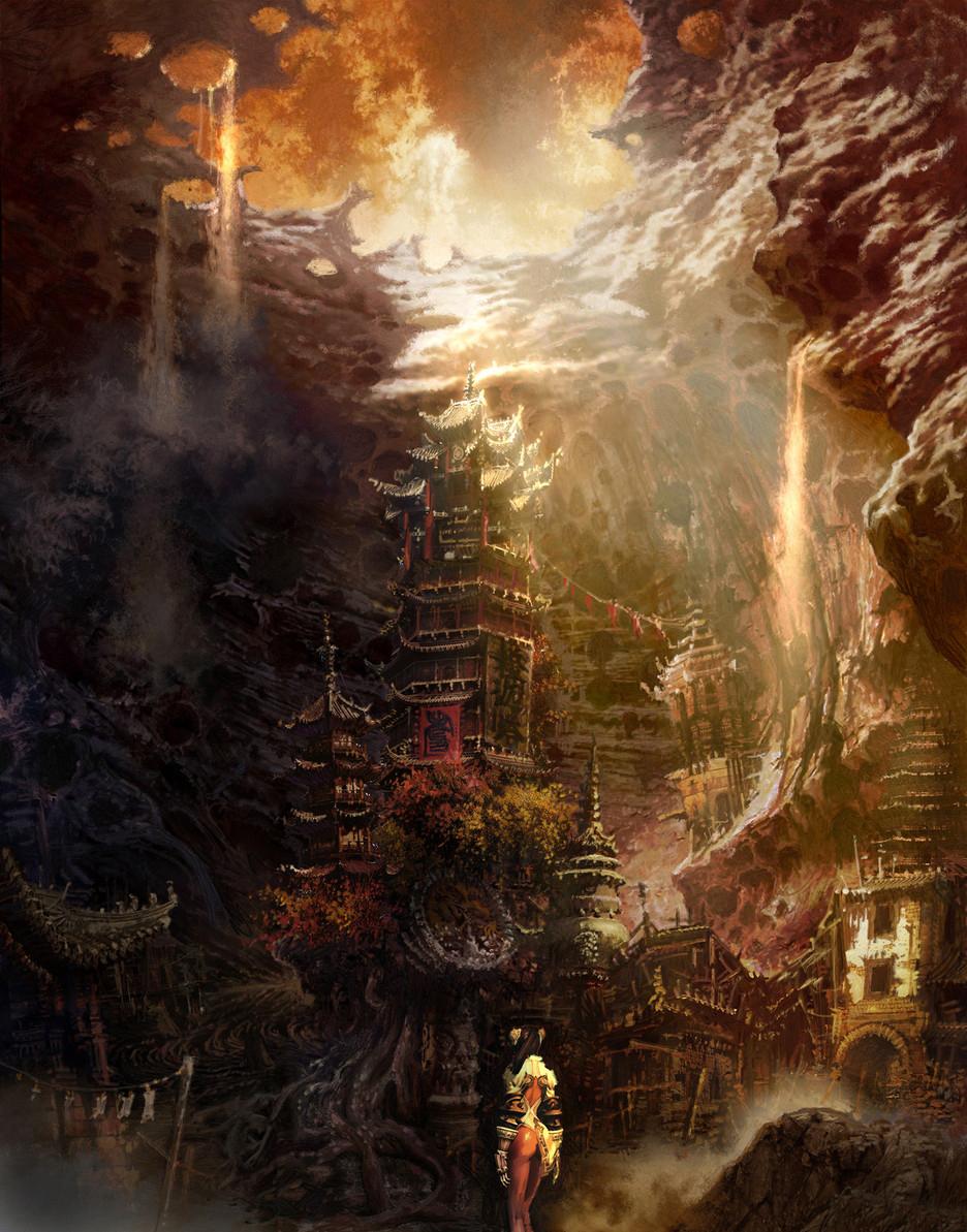 《剑灵》场景原画
