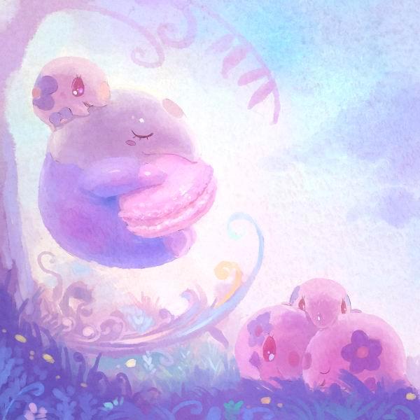 不萌不要钱!超可爱的宠物小精灵主题画作赏