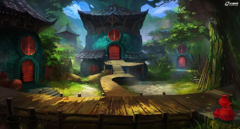 游戏设计教程:《失落的巴比伦》概念场景绘制解析