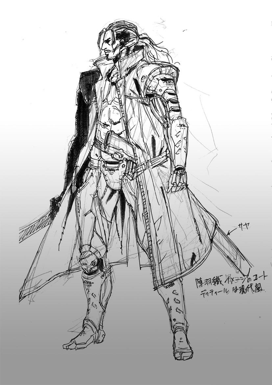 游戏手绘武器线稿