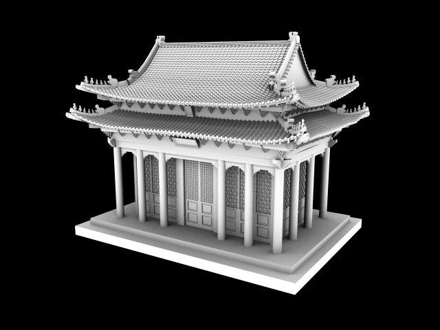古代宫殿精细模型