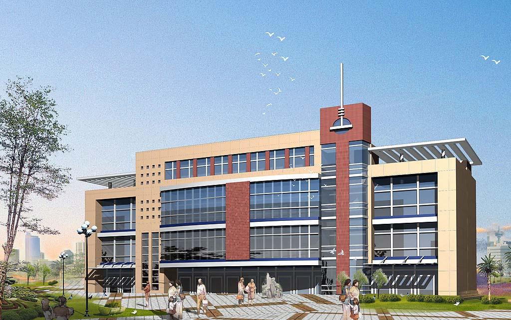 设计图分享 多层办公楼设计图  山区小二楼设计图 宽606×415高