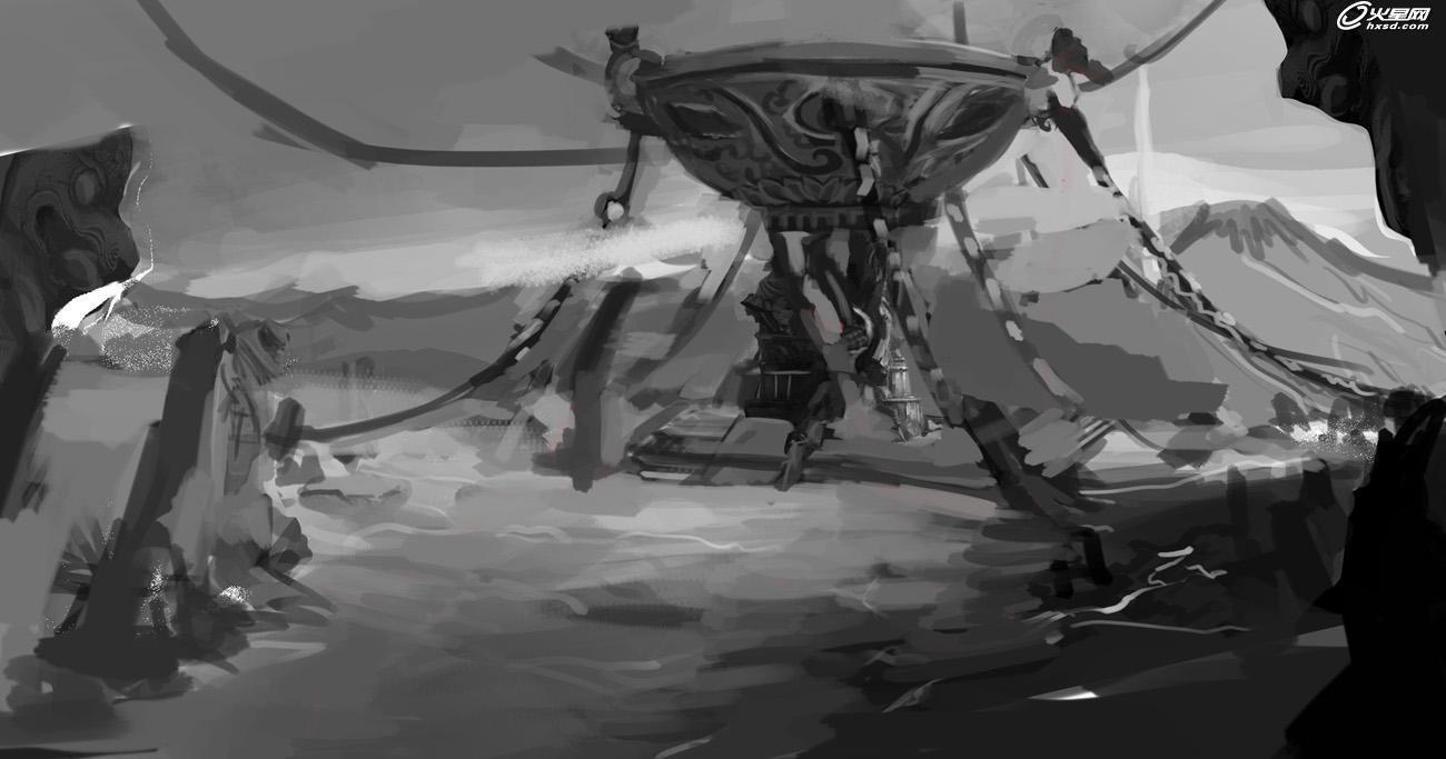 原画 场景设计 大漠祭祀场景《沙漠之眼》创作过程解