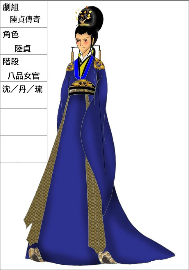 《陆贞传奇》服装设计图曝光 造型引争议